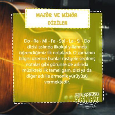 gitar kursu İzmir Hatay - majör dizi ve minör dizi