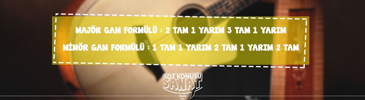 gitar kursu İzmir Hatay- majör gam ve minör gam formülleri