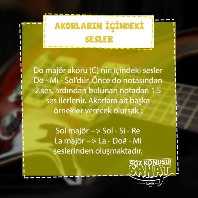 gitar kursu İzmir Hatay- majör ve minör akor oluşturmak